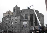Proy. & Dir. Obra. Reparación de cruz y pararrayos en Parroquia San Francisco de Asís en Oviedo. 2012